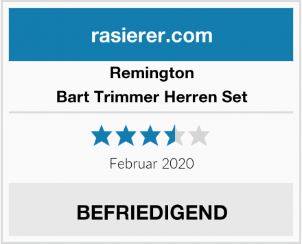 Remington Bart Trimmer Herren Set Test