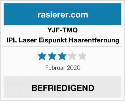 YJF-TMQ IPL Laser Eispunkt Haarentfernung Test