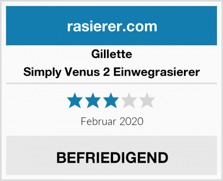 Gillette Simply Venus 2 Einwegrasierer Test