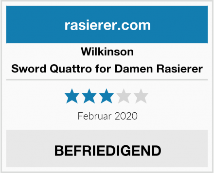 Wilkinson Sword Quattro for Damen Rasierer Test