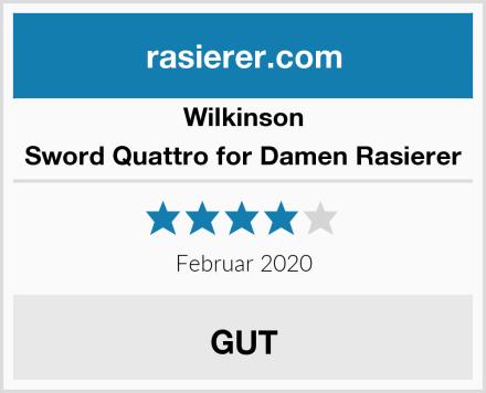 Wilkinson Sword Quattro for Damen Rasierer Test