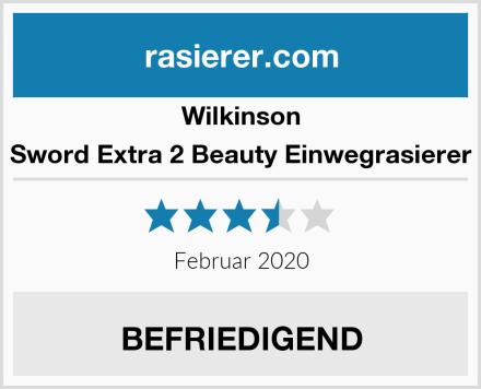 Wilkinson Sword Extra 2 Beauty Einwegrasierer Test