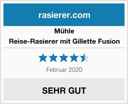 MÜHLE Reise-Rasierer mit Gillette Fusion Test