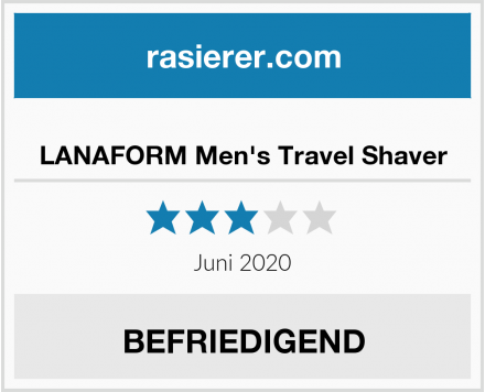 LANAFORM Men's Travel Shaver Test