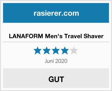LANAFORM Men's Travel Shaver Test