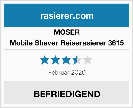 MOSER Mobile Shaver Reiserasierer 3615 Test
