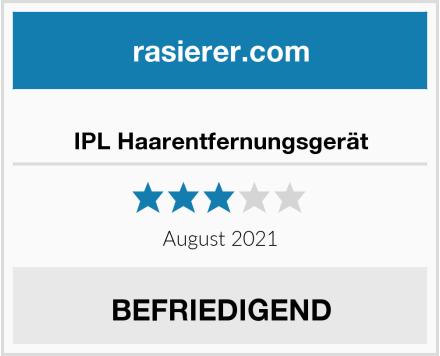 IPL Haarentfernungsgerät Test