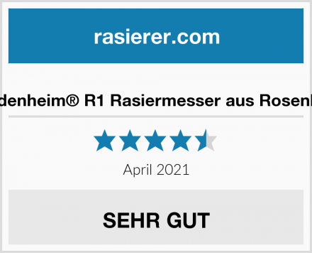 Heldenheim® R1 Rasiermesser aus Rosenholz Test