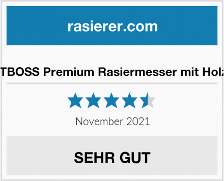 BARTBOSS Premium Rasiermesser mit Holzgriff Test