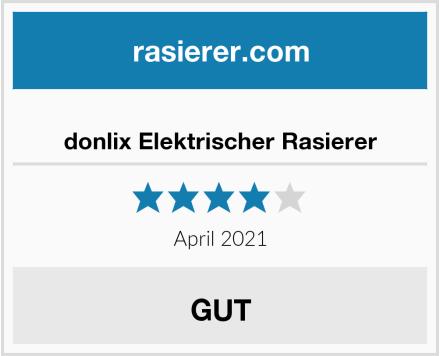 donlix Elektrischer Rasierer Test