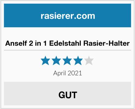Anself 2 in 1 Edelstahl Rasier-Halter Test
