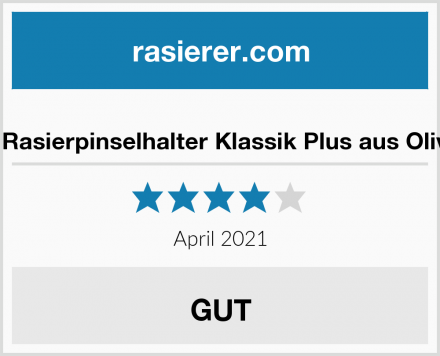 D.O.M. Rasierpinselhalter Klassik Plus aus Olivenholz Test