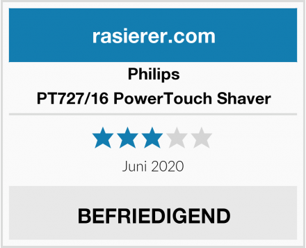Philips PT727/16 PowerTouch Shaver Test