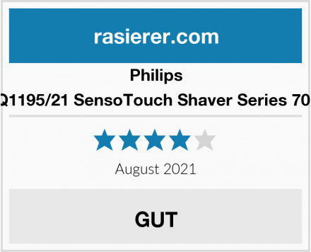 Philips RQ1195/21 SensoTouch Shaver Series 7000 Test