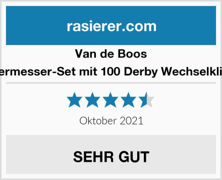 Van de Boos Rasiermesser-Set mit 100 Derby Wechselklingen Test