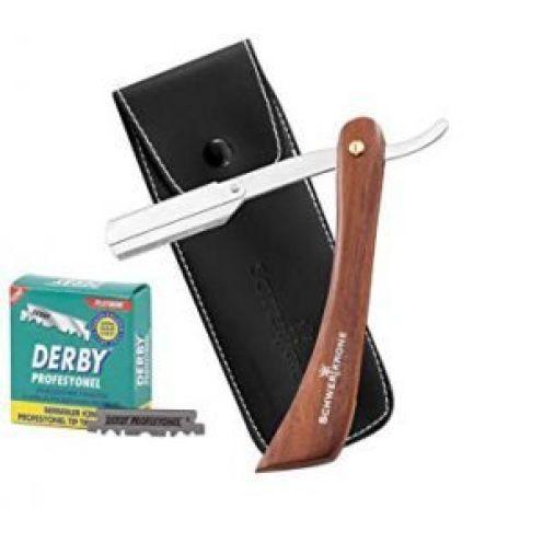 Schwertkrone Rasiermesser Holzgriff